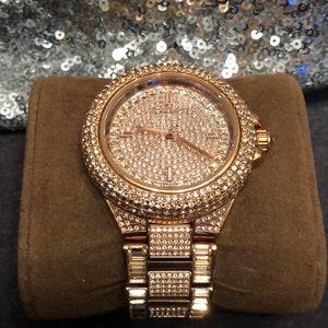 e6a75fcbcfe4 Michael Kors. Michael Kors Camille Rose Gold Glitz watch.  180  550